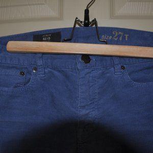 J. Crew Reid Blue Courduory Pants